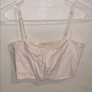 brandy melville baby pink top